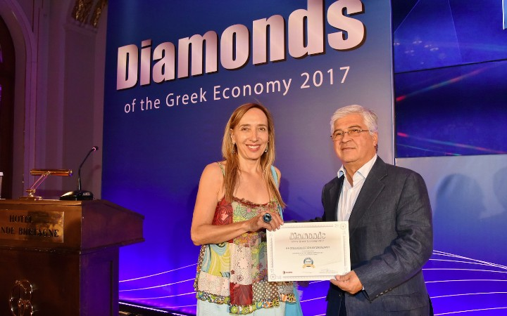 Βράβευση του Ομίλου H Hotels Collection  στα Diamonds of the Greek Economy 2017