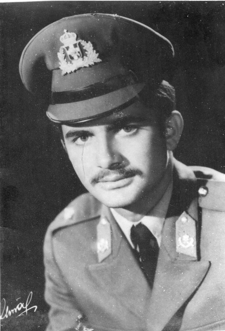 Ο Γιώργος Συμεωνίδης 20 χρονών όταν υπηρετούσε τη θητεία του ως έφεδρος ανθυπολοχαγός