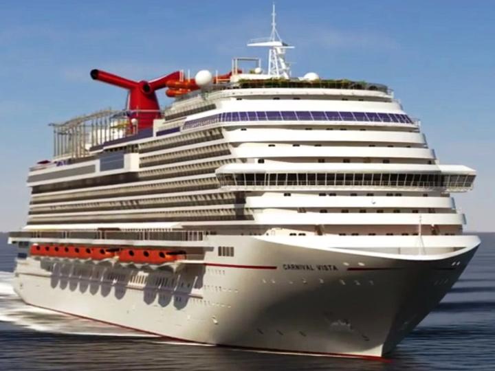 Ένα από τα μεγαθήρια της κρουαζιέρας το Carnival Vista, καταπλέει στη Ρόδο με 4.000 επιβάτες