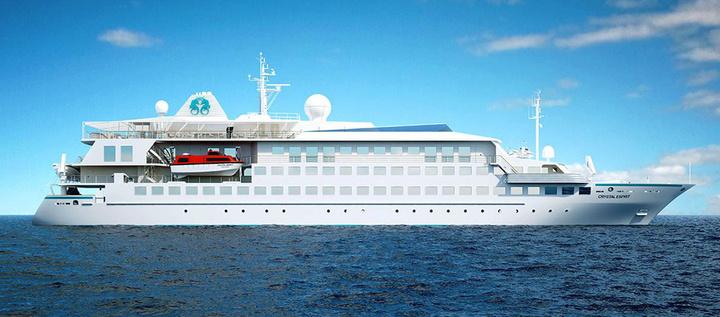 Το Crystal Esprit κρουαζιερόπλοιο-πολυτελές γιοτ για κροίσους που θα έρθει στο νησί στις 8 του μήνα