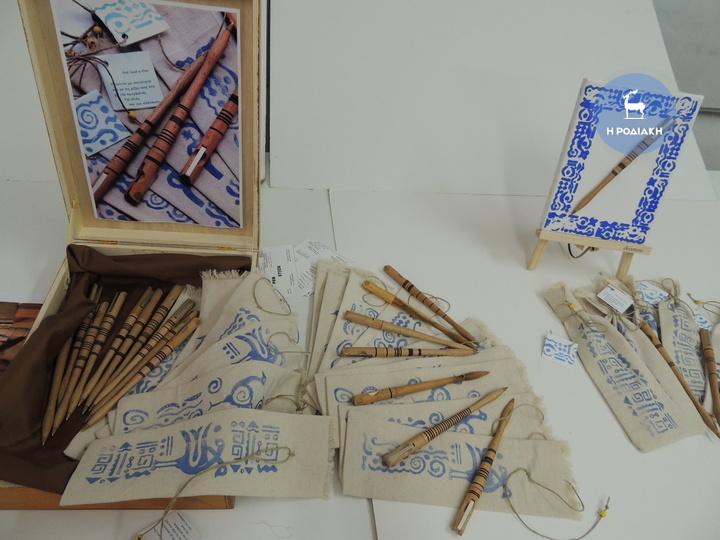 Πρωτότυπο στυλό με usb, πάνινη οικολιγική θήκη. Ένα ιδιαίτερο  ελληνικό σουβενίρ από μαθητές Β' γυμνασίου