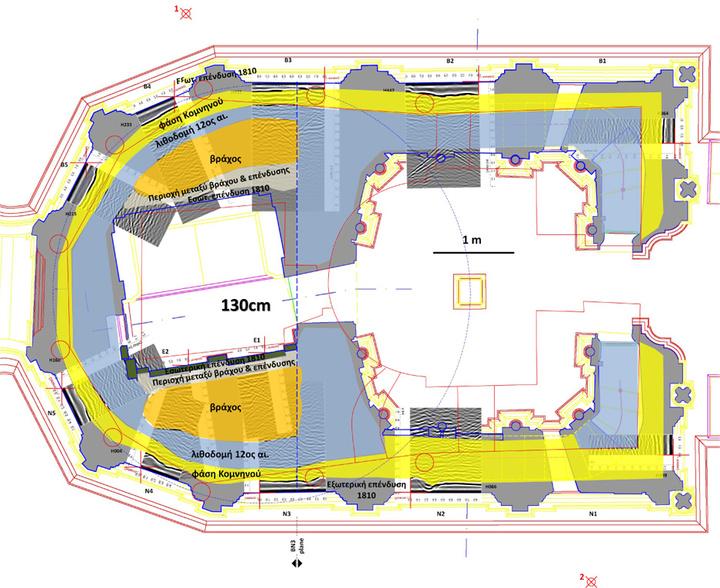 Το σχεδιάγραμμα της μελέτης του Παναγίου Τάφου