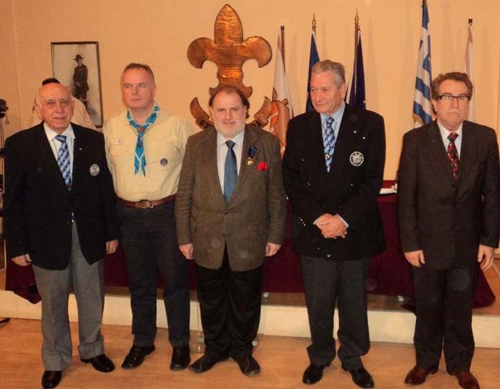 Βράβευση (Μεταλλίον Υπηρεσιών προς τον Προσκοπισμό) Σώμα Ελλήνων Προσκόπων αίθουσα Λευκαδίτης (25-1-2011)