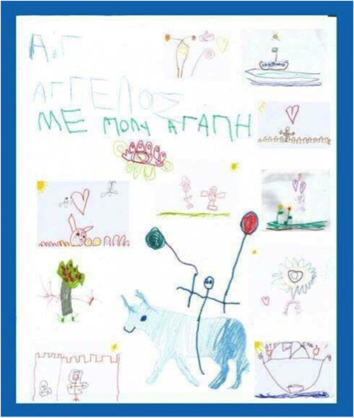 Η ζωγραφιά του Άγγελου κοσμεί τον παιδότοπο