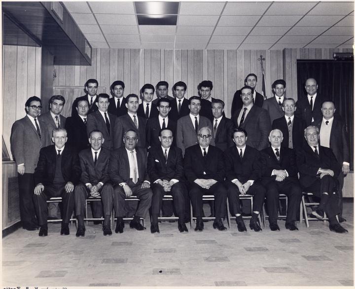 Τα ιδρυτικά μέλη της Καρπαθιακής Ομοσπονδίας, ο Μανώλης Δήμαρχος στην δεύτερη σειρά 3ος από δεξια.