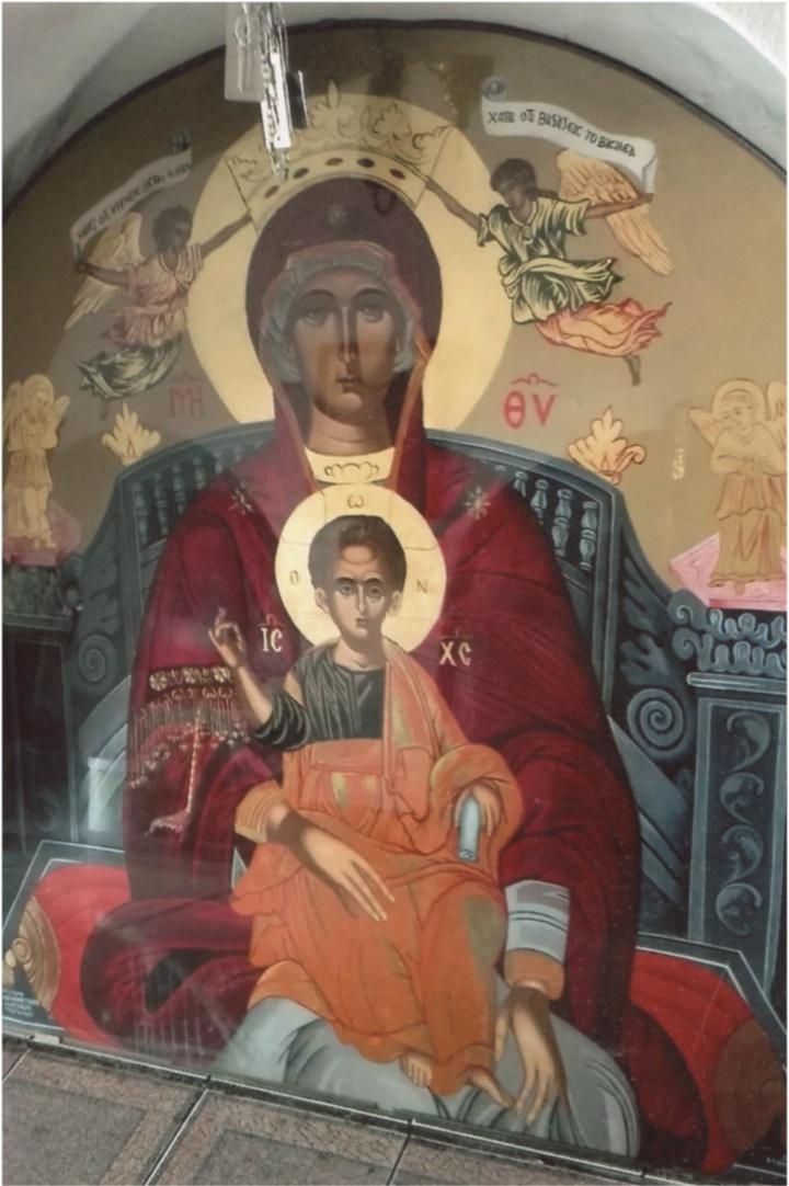 Η εικόνα της Παναγίας είναι από το ξωκκλήσι