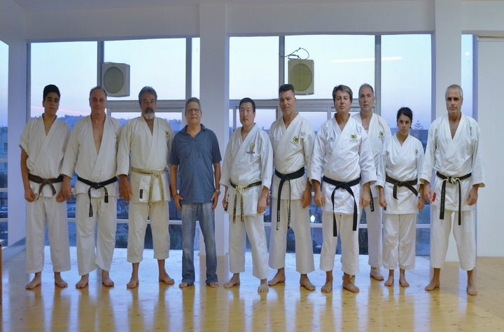 Οι αθλητές που συμμετείχαν στις εξετάσεις του shotokan