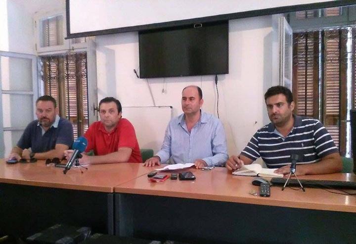 Οι κ.κ. Σ. Αριστείδου, Π. Τσιράκος, Ι. Γρύλλης και Ν. Κοψιάς στη χτεσινή συνέντευξη