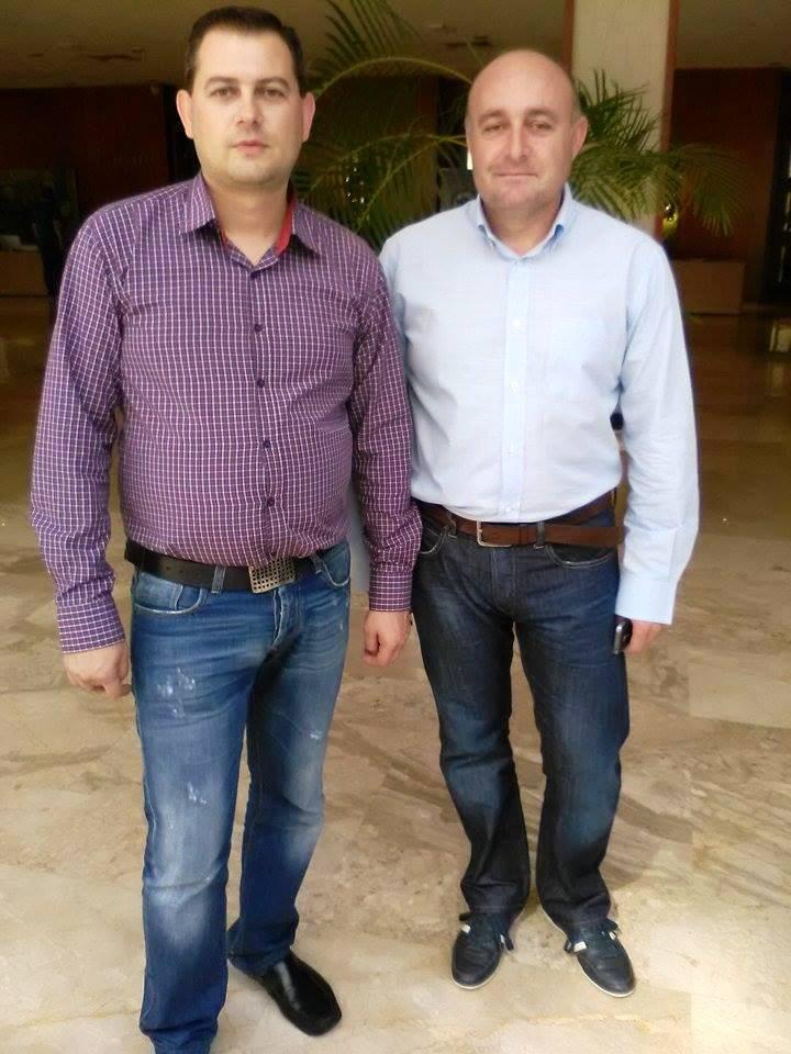 O πρόεδρος των νέων αρχηγών  Θ. Βασιλόπουλος και ο  αντιπρόεδρος Ν. Παυλονάσιος