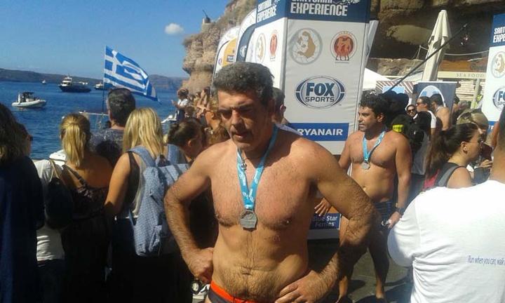 Ο Σταύρος Καμπέρης συμμετείχε στον αγώνα δρόμου και στον αγώνα θαλάσσης