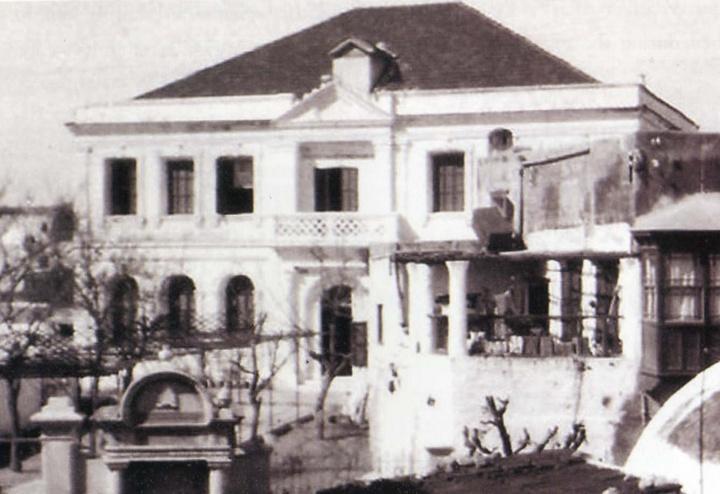Εβραϊκό δημοτικό σχολείο στον Αγιο Παντελεήμονα. Φωτογραφία του 1930.