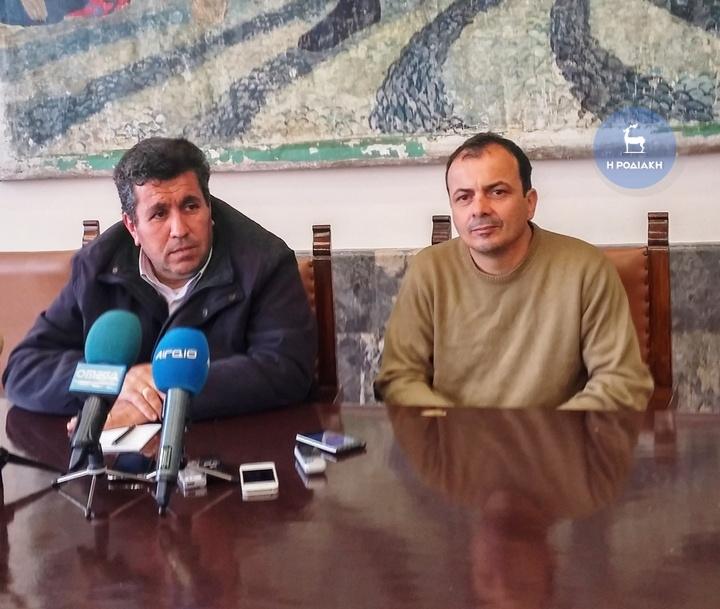 Από αριστερά ο κ. Μπακίρης και ο κ. Ντελλάκης