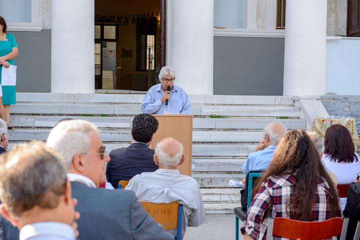 Ο Πρόεδρος της Ομοσπονδίας των Δωδεκανησιακών   Σωματείων κ. Νίκος Κωνσταντινίδης