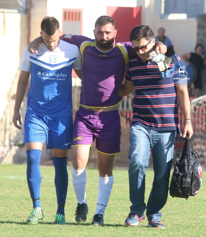 Ο Δημήτρης Καραγιάννης τραυματίσθηκε στο παιχνίδι με τον Κλεάνθη ΦΩΤΟ ΒΙΚΤΩΡ