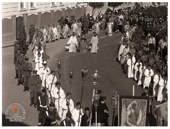 Από τις παλιές καλές εποχές της γιορτής του πολιούχου.(ΦΩΤΟ Σταύρος και Μιχαλία Γιωργαλλίδη)