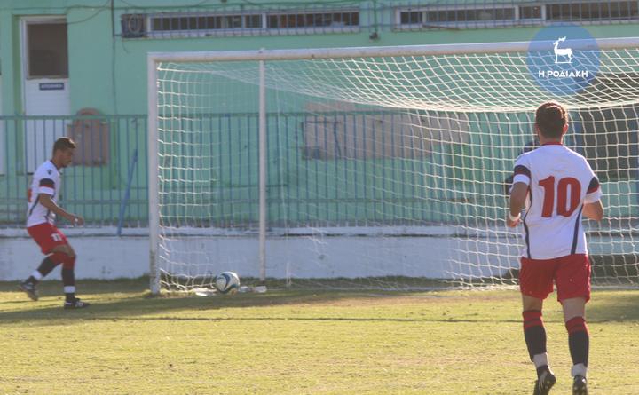Εύκολα έφταναν στο γκολ οι παίκτες του Διαγόρα στο χθεσινό ματς των Μαριτσών      (ΦΩΤΟ ΒΙΚΤΩΡ)