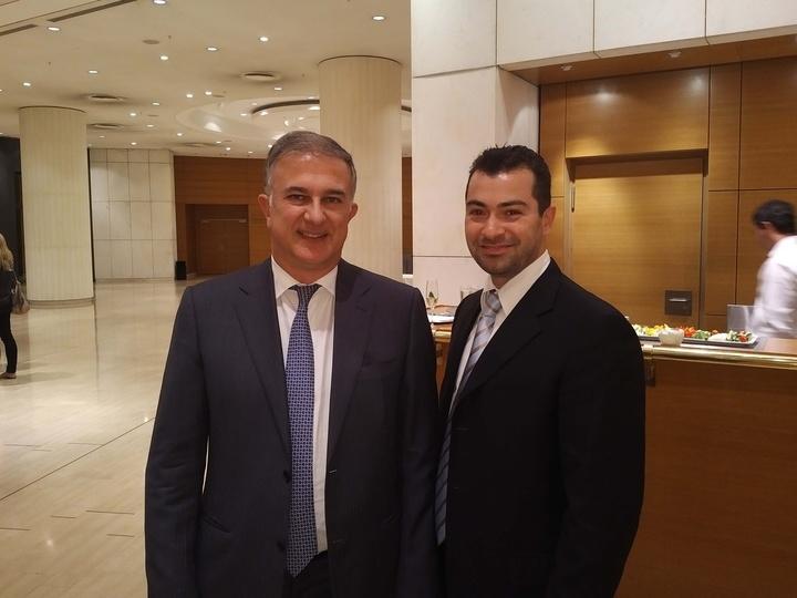 Ο κ. Φώτης Κασέκας με τον τ. υπουργό Οικονομικών κ. Γιώργο Μαυραγάνη