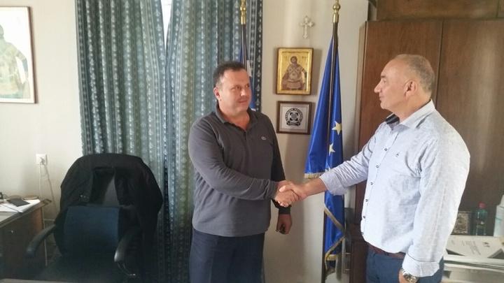 Μαζί με τον Αστυνομικό Δ/ντής της Β' Αστυνομικής Δ/νσης Δωδ/σου κ. Γιώργο Γεωργακάκο