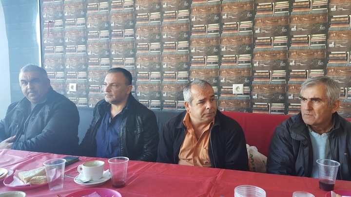 Τα μέλη του συλλόγου ιδιοκτητών ταξί Ρόδου που ανέλαβαν τη σχετική πρωτοβουλία