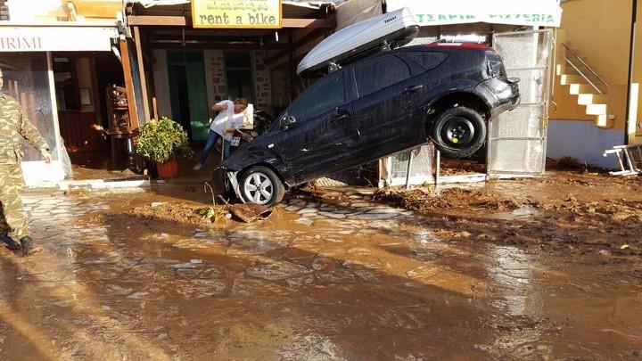 Μεγάλες ζημιές υπέστη απο την κακοκαιρία το νησί της Σύμης