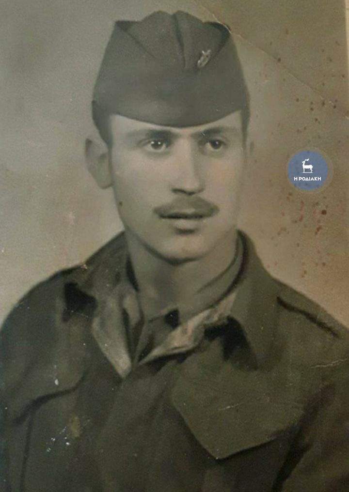 Από την κατάταξη στον ελληνικό στρατό (1950)