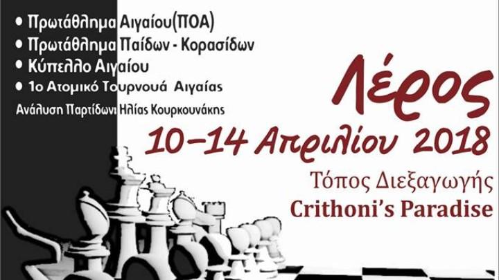 Ξεκινούν την Τρίτη οι Αιγαιοπελαγίτικοι στο σκάκι
