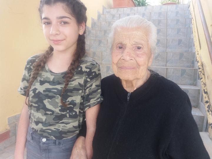 Με την εγγονή της, Μαρκέλλα