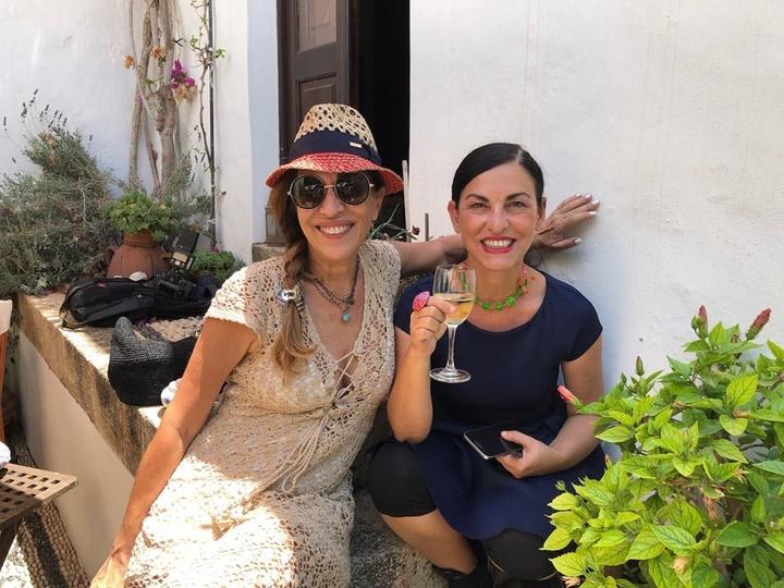 Η κ. Μαίρη Καμπουράκη με την κ. Ελένη Ψυχούλη