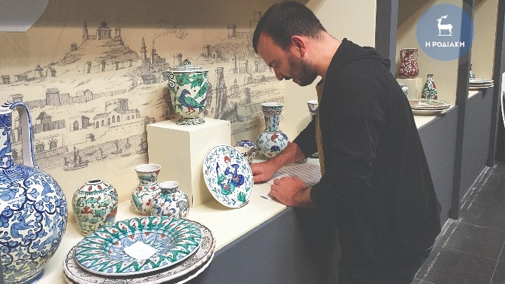 "Collection of IKAROS – ICARO  Rhodian Ceramics  & Pottery creations  on show at  the ""Palace of the Knights"""