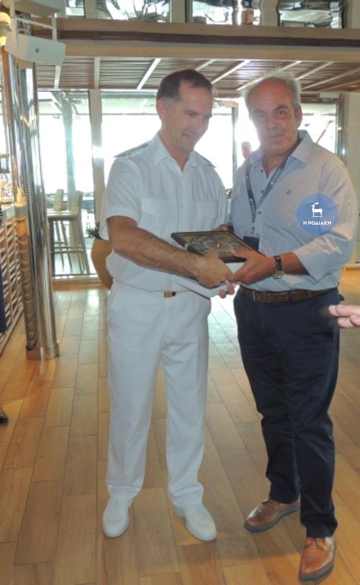 Με τον πρόεδρο του Λιμενικού Ταμείου Δωδεκανήσου κ. Μιχάλη Χριστοδούλου