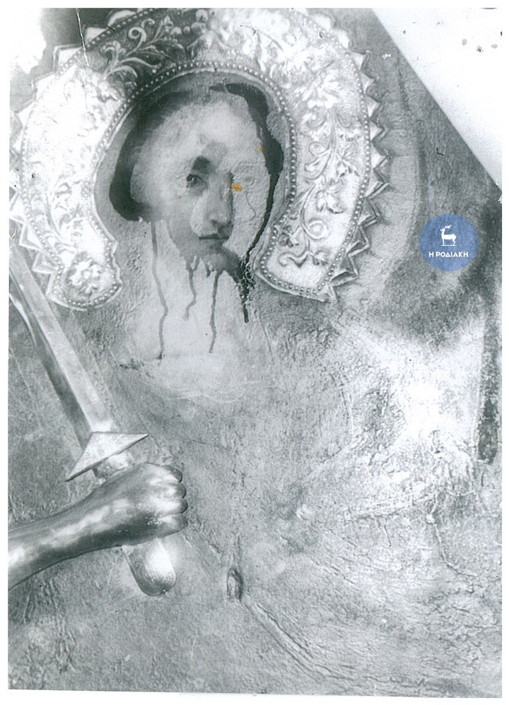 Φωτογραφία της εικόνας του Ταξιάρχη στο Εκκλησάκι στο Νιοχώρι όταν «δάκρυσε»...