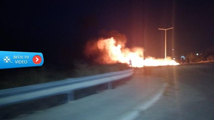 Ανάστατοι είναι οι κάτοικοι της Θήβας:Ρομά άναψαν νέα πυρκαγιά στο Πυρί Θήβας