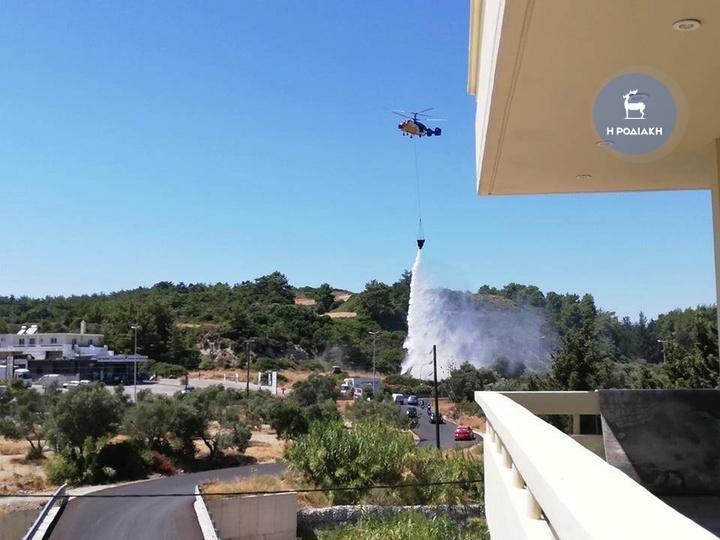 Καταλυτική ήταν η συνδρομή του πυροσβεστικού ελικοπτέρου για την κατάσβεση της πυρκαγιάς στο Τσαΐρι