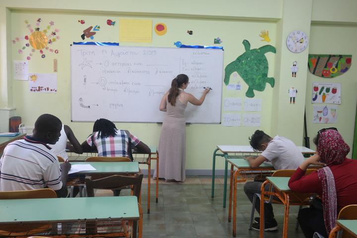 Από την επίσκεψη του κ. Leclerc στο σχολείο KEDU στην Κω
