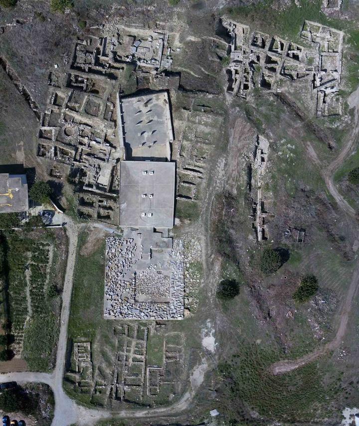 Αεροφωτογραφία της Πανεπιστημιακής ανασκαφής