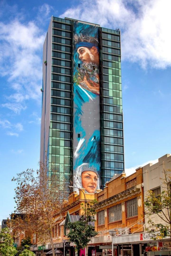 Ολόκληρη η τοιχογραφία του ξενοδοχείου Adnate              Supplied
